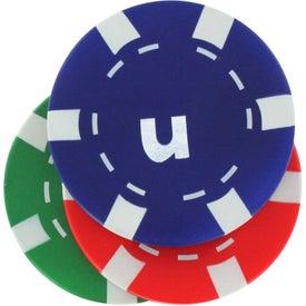 Monogrammed Casino Chip Stress Reliever