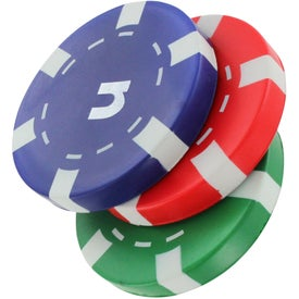 Personalized Casino Chip Stress Reliever