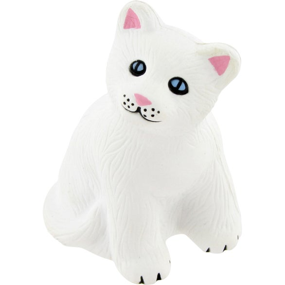 White Cat Stress Toy