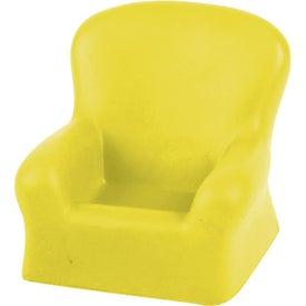 Monogrammed Chair Cell Phone Holder Stress Ball