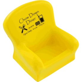 Promotional Chair Cell Phone Holder Stress Ball