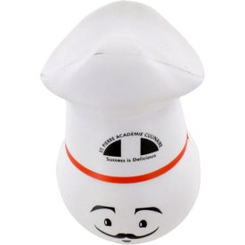 Chef Mad Cap Stress Ball Imprinted with Your Logo