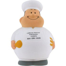 Chef Bert Stress Reliever Imprinted with Your Logo