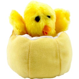 Customized Chick In Egg Puppet Stress Toy