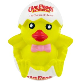 Chicken In Egg Stress Toy Imprinted with Your Logo