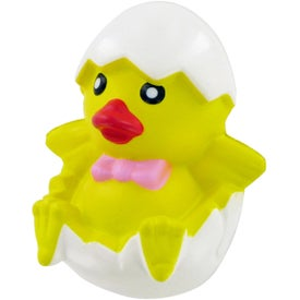 Branded Chicken In Egg Stress Toy