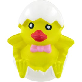Imprinted Chicken In Egg Stress Toy