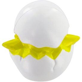 Monogrammed Chicken In Egg Stress Toy