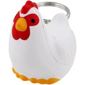 Monogrammed Chicken Key Chain Stress Ball