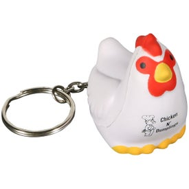 Chicken Key Chain Stress Ball