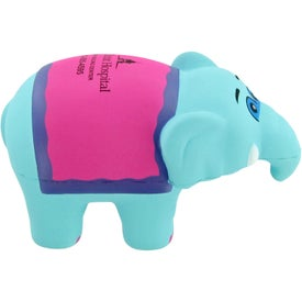 Circus Elephant Stress Toy with Your Slogan