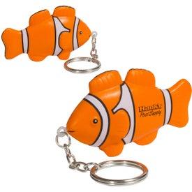 Clown Fish Stress Ball Key Chain