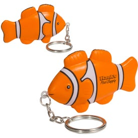 Clown Fish Stress Ball Key Chain