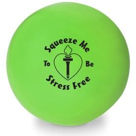Monogrammed Colorbrite Round Stress Ball