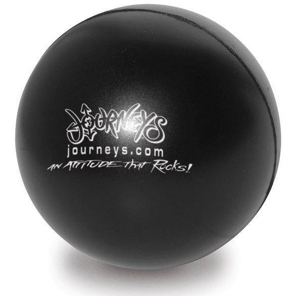 Black Colorbrite Round Stress Ball