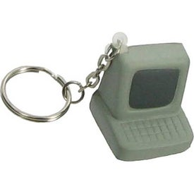 Branded Computer Key Chain Stress Ball