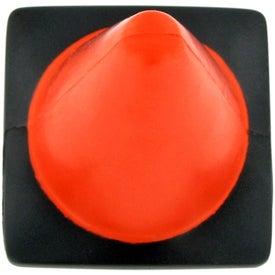 Logo Construction Cone Stress Ball