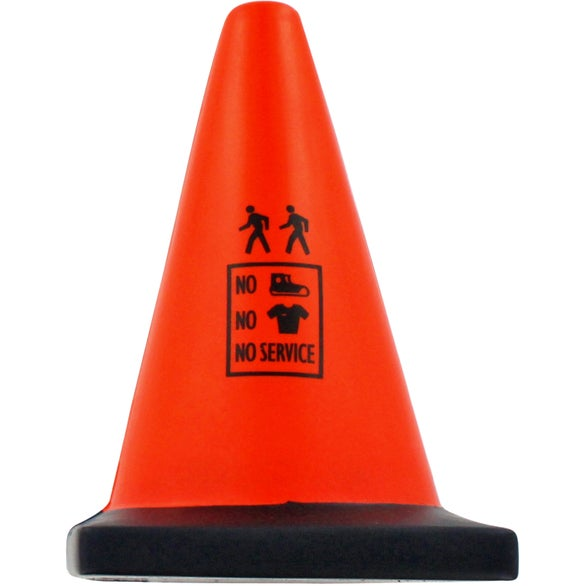 Orange / Black Construction Cone Stress Ball