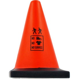 "Construction Cone Stress Ball (2.5"" x 3.5"" x 2.5"")"