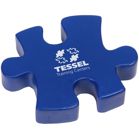 Blue Connecting Puzzle Piece Stress Ball