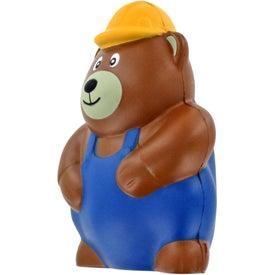 Monogrammed Construction Bear Stress Ball
