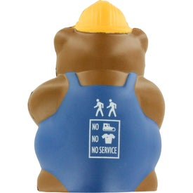 Customized Construction Bear Stress Ball