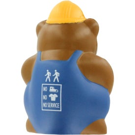 Construction Bear Stress Ball for Promotion
