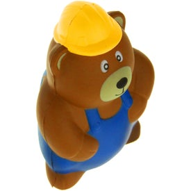 Construction Bear Stress Ball Imprinted with Your Logo
