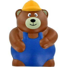 Construction Bear Stress Ball with Your Logo