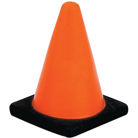 Imprinted Construction Cone Stress Ball
