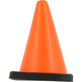 Construction Cone Stress Ball Imprinted with Your Logo
