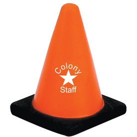 Construction Cone Stress Ball (Economy)