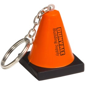 Construction Cone Stress Ball Key Chain