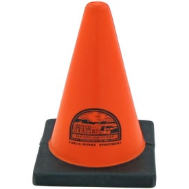 Construction Cone Stress Toy Imprinted with Your Logo