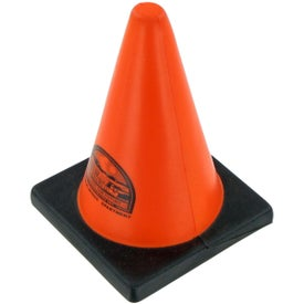 Construction Cone Stress Toy with Your Logo
