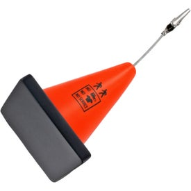 Construction Cone Stress Ball Memo Holder for Customization