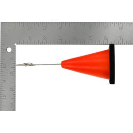 Construction Cone Stress Ball Memo Holder with Your Logo