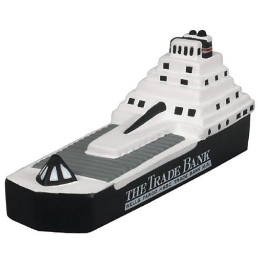 Black / White Container Ship Stress Ball