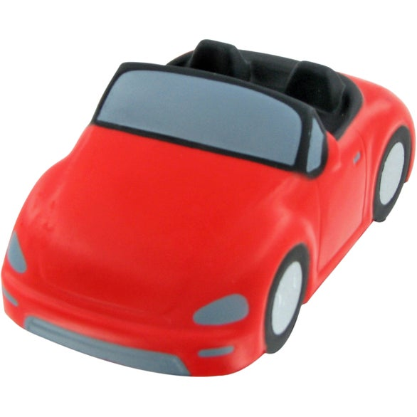 Red Convertible Car Stress Ball