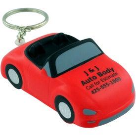 Printed Convertible Car Key Chain Stress Ball