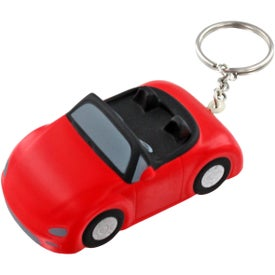Branded Convertible Car Key Chain Stress Ball