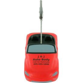 Imprinted Convertible Car Stress Ball Memo Holder