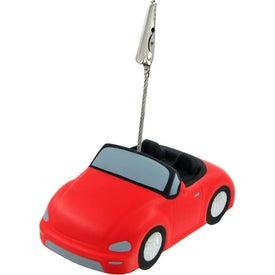 Monogrammed Convertible Car Stress Ball Memo Holder