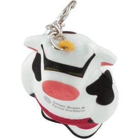 Personalized Cool Cow Key Ring Stress Reliever