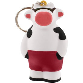 Advertising Cool Cow Key Ring Stress Reliever