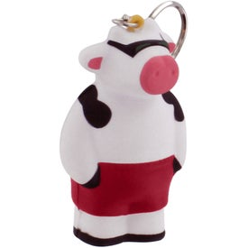 Promotional Cool Cow Key Ring Stress Reliever
