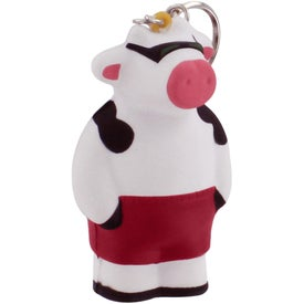 Customized Cool Cow Key Ring Stress Reliever