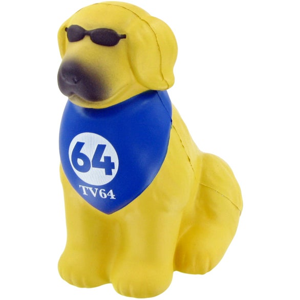 Yellow / Blue Cool Dog Stress Toy