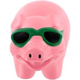 Branded Cool Pig Stress Ball Memo Holder