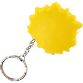 Cool Sun Key Chain Stress Ball for Promotion